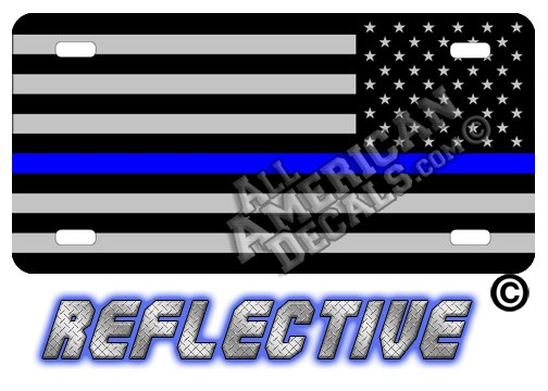 Thin Blue Line Tactical Flag Reverse Facing