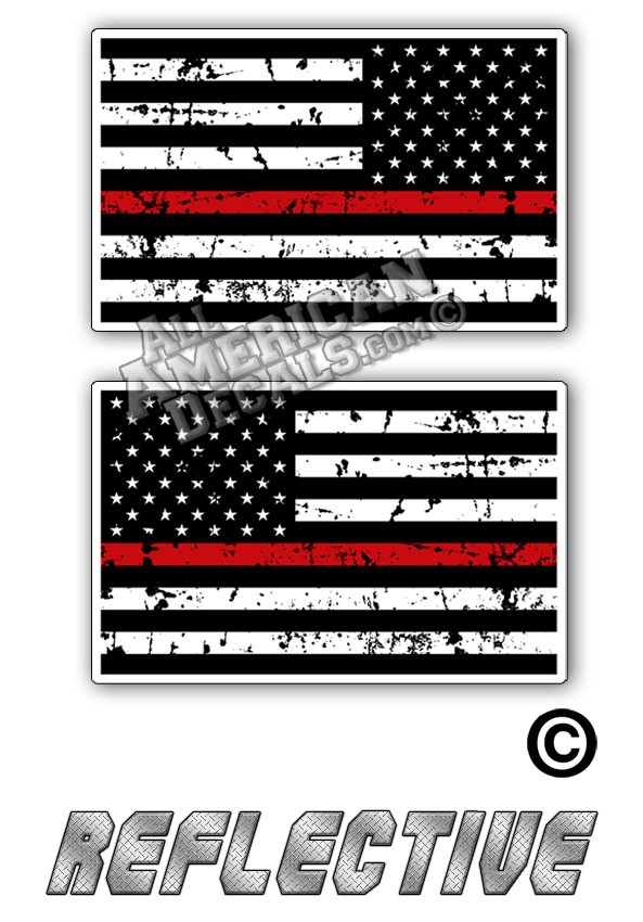 TRL Thin Red Line Distrees Tactical Flag Set