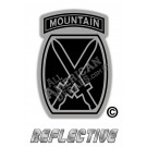 US Army 10th Mountain Division Tactical Black & Grey Insignia Reflective Decal