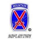 10th Mountain Division Red & Blue