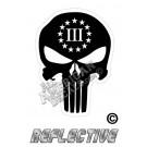3 Percenter Punisher Black Reflective Decal