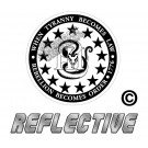 3 Percenter Snake Round Reflective Decal