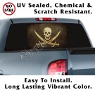 Aged Jolly Roger Flag Back Window Graphic