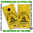 Aged Yellow Don't Tread On Me Flag Board Wrap