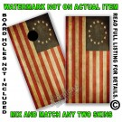 Aged Betsy Ross 13 Star Flag Board Wrap