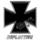 Black Iron Cross Reflective Decal