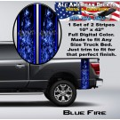 Blue Fire Bed Band Double