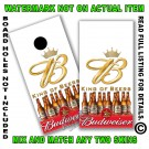 Budweiser King of Beers White Board Wrap