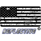Distressed Tactical Flag Forward Facing License Plate