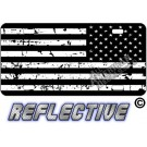 Distressed Tactical Flag Reverse Facing License Plate