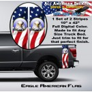 Eagle American Flag Truck Bed Band Stripe Decal Kit