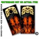 Real Fire & Skulls Board Wrap
