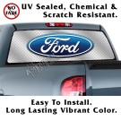 Ford Silver Diamond Plate Metal Back Window Graphic