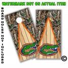 Florida Gators Real Oak Tree Camo Board Wrap With Wood Lane