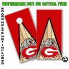 """Georgia Bulldogs """"G & Dog"""" Board Wrap With Wood Lane"""