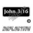 John 3:16 Patch Decal