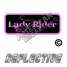 Lady Rider Patch Decal Reflective Pink