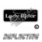 Lady Rider Patch Decal Reflective Silver