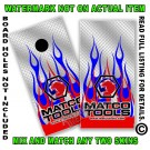 Matco Tools Red & Blue Flame On Diamond Plate Board Wrap