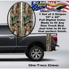 Real Tree Oak Camo Truck Bed Band Stripe Decal Kit
