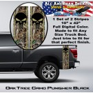 Real Tree Oak Camo Black Punisher Truck Bed Band Stripe Decal Kit