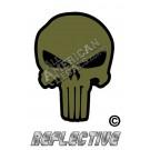 ODG Olive Drab Green Punisher Black Outline Reflective Decal