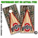 Ohio State Real Oak Tree Camo Board Wrap With Wood Lane