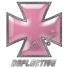 Pink Iron Cross Reflective Decal
