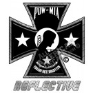 This POW MIA Iron Cross Reflective Decal