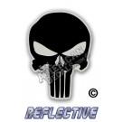 Punisher Black Reflective Decal