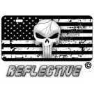 Punisher Distressed Tactical Flag Forward Facing License Plate