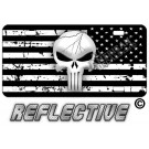Punisher Distressed Tactical Flag Reverse Facing License Plate