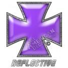 Purple Iron Cross Reflective Decal