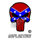 Rebel Flag Punisher Reflective Decal