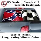 Wavy Rebel Racer Flag Back Window Graphic