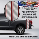 Red Line Diamond Plate Truck Bed Band Stripe Decal Kit