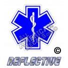 EMS/EMT Blue Star of Life Reflective Decal