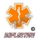 EMS/EMT Orange Star of Life Reflective Decal
