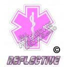 EMS/EMT Pink Star of Life Reflective Decal