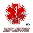 EMS/EMT Red Star of Life Reflective Decal
