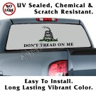 Gadsden Flag Tactical Grey Don't Tread On Me Back Window Graphic