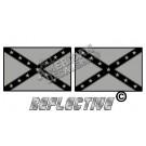 Tactical Rebel Flag Set Reflective Decal