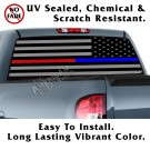 Thin Blue Line & Thin Red Line Tactical American Flag Reverse Facing Back Window Graphic