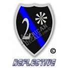 Thin Blue Line 2* Ass to Risk Badge Reflective Decal