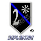 Thin Blue Line 2* Ass to Risk Shield Reflective Decal
