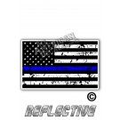 Distressed Thin Blue Line Tactical Flag Forward Face