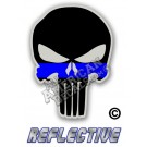 Thin Blue Line Punisher Reflective Decal