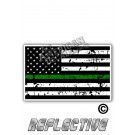 Distressed Thin Green Line Tactical Flag Forward Face