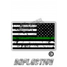 Distressed Thin Green Line Tactical Flag Reverse Face