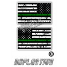 TGL Thin Green Line Distrees Tactical Flag Set